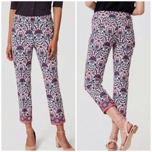 Loft Outlet Original Crop Floral Mosaic Pants